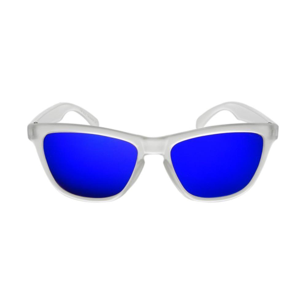 791a2e60f0e6f Clear Translucent Matte Frame Mirror Lens Wayfarer Sunglasses W1620 ...