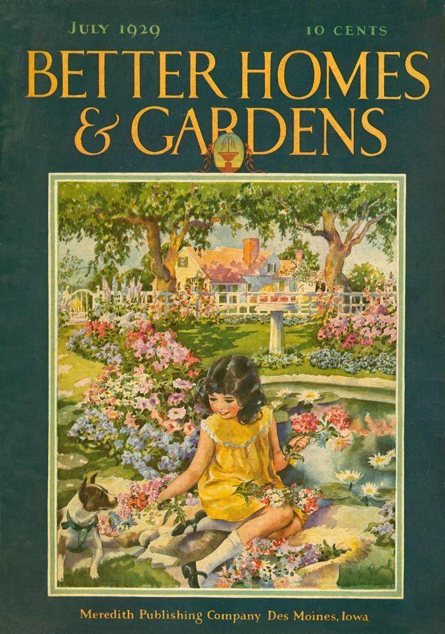 Better Homes And Gardens 1929 Magazine Art Illustration