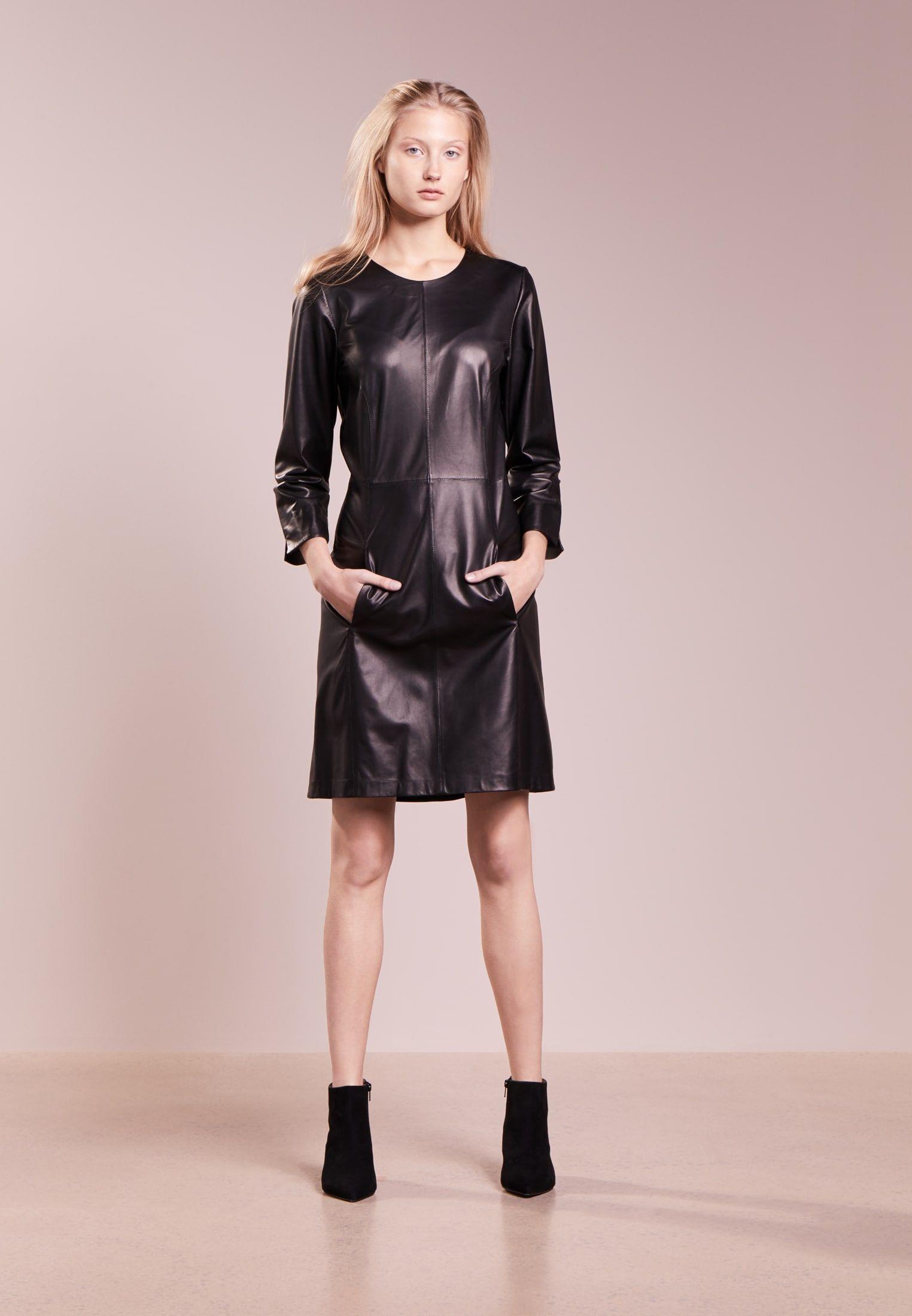 BERRYL - Cocktailkleid/festliches Kleid - black | Leather dresses ...