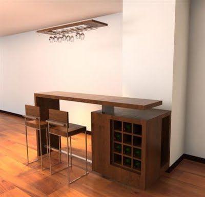 decoracin minimalista y muebles modernos para bar cantina en el hogar