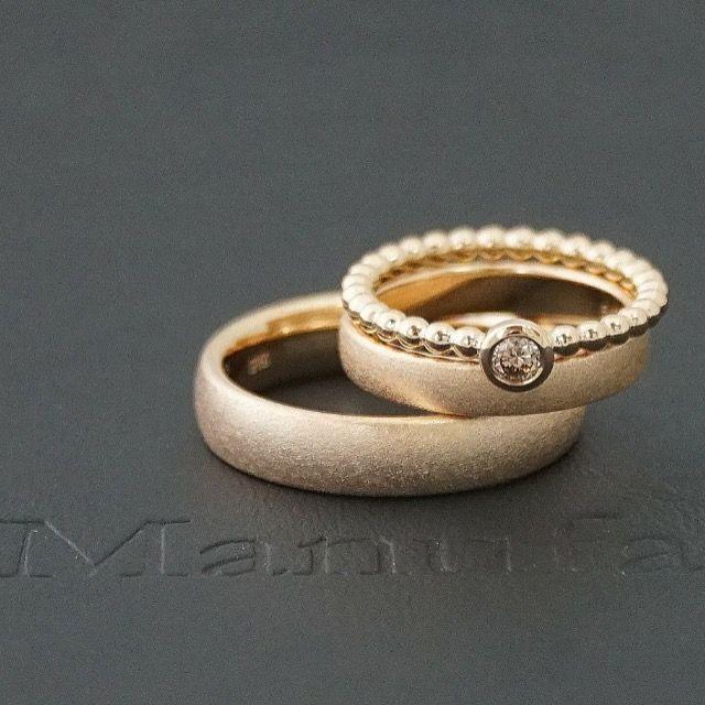 Photo of Set of jovial wedding rings