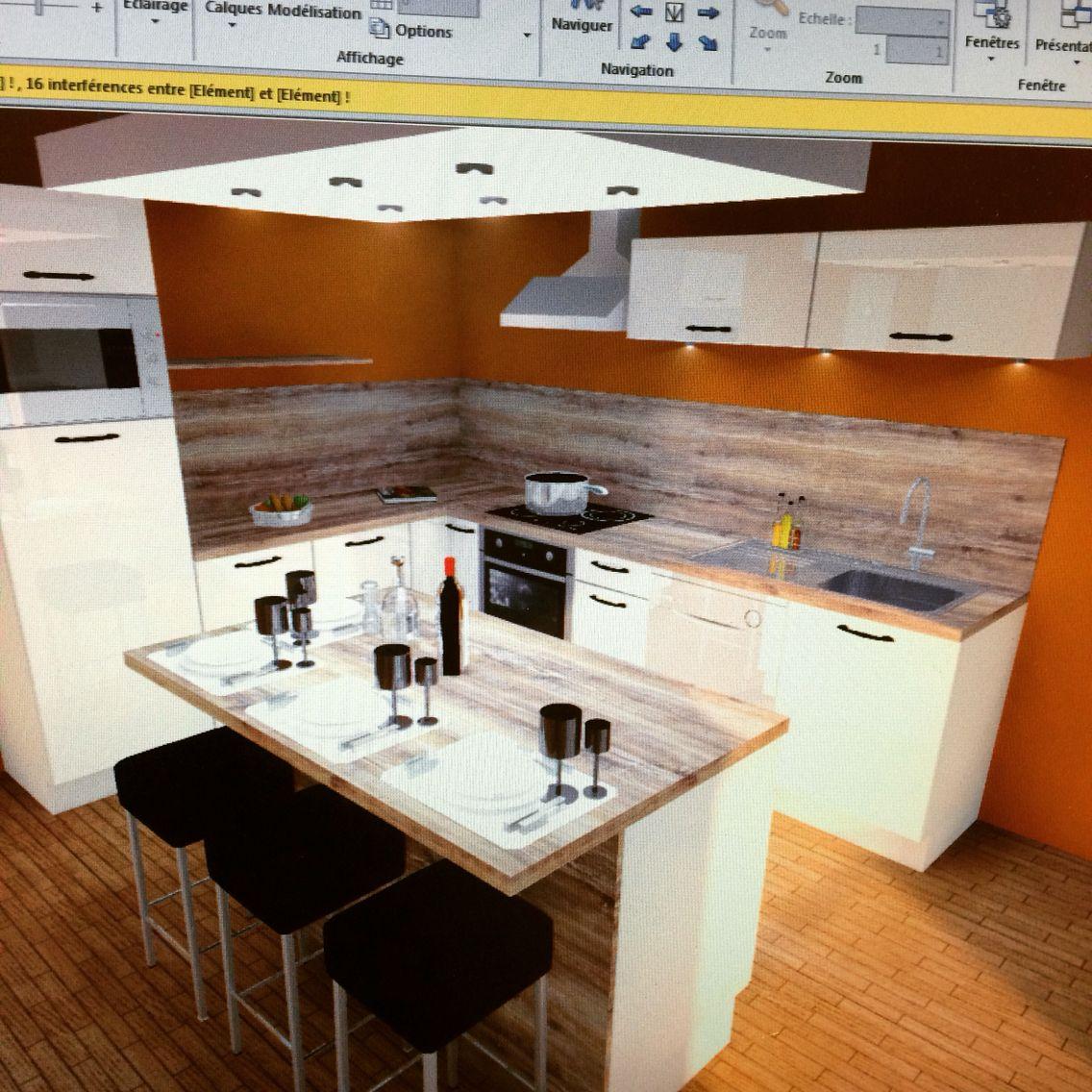 modele de cuisine provencale cool cuisine en l blanche de style moderne avec lot central with. Black Bedroom Furniture Sets. Home Design Ideas
