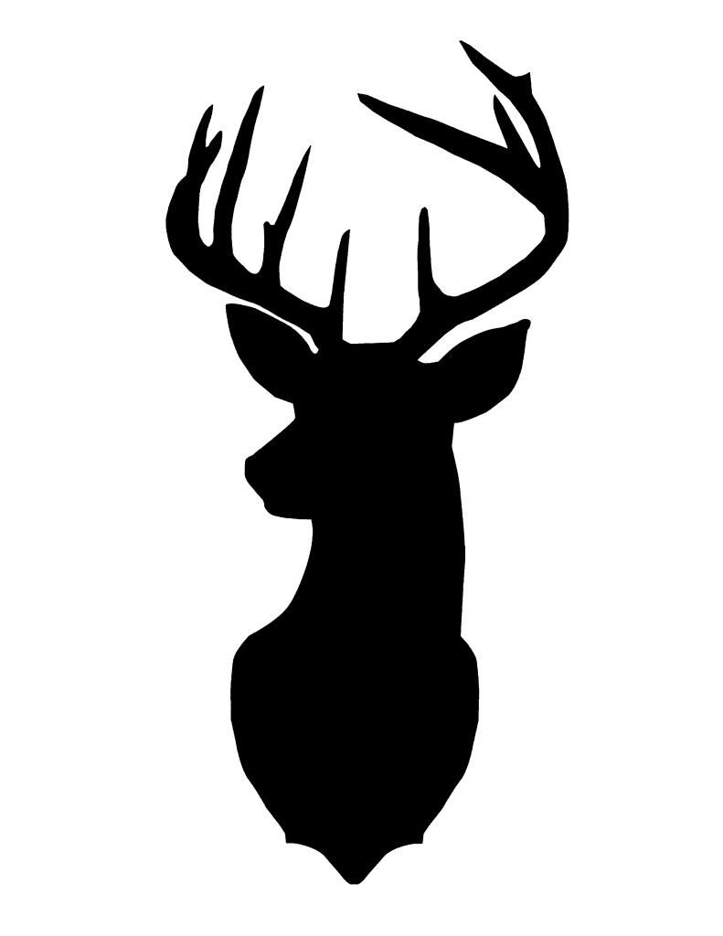 best hd deer head silhouette image clipart pinterest deer head rh pinterest com deer head clip art silhouette deer head clipart free