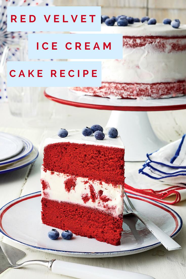 Red Velvet Ice Cream Cake Recipe In 2019 Southern Holidays