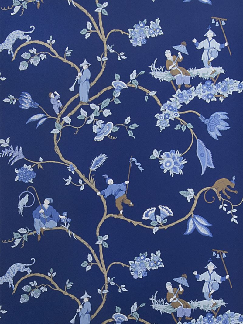 0693601 Crawley Indigo by Stroheim Wallpaper