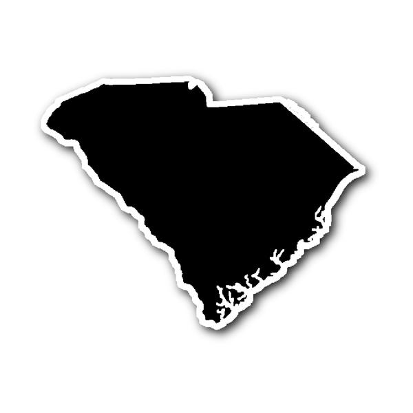 South Carolina State Shape Sticker Outline Black State Shapes South Carolina Carolina Blue