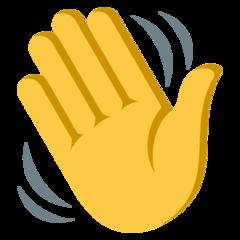 Waving Hand On Emojione 3 1 Emoji Hands Emoticon