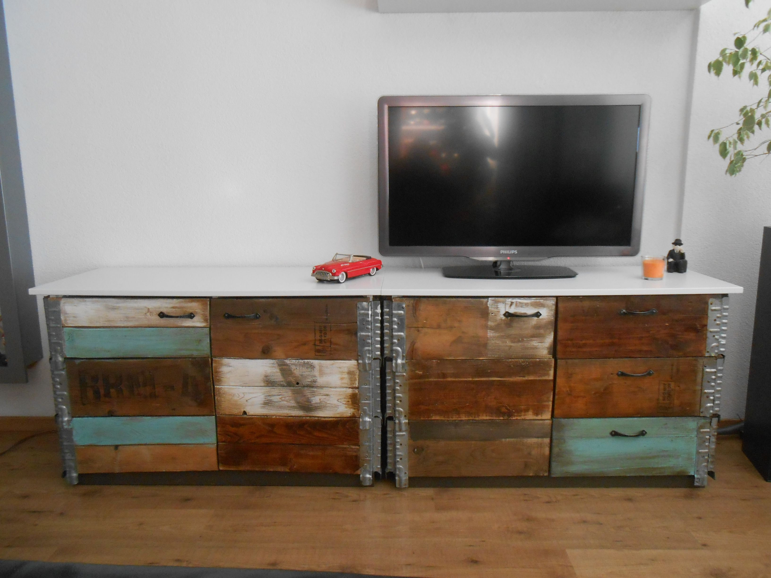 tv cabinet tv meubel designed by me marco pallet scrapwood