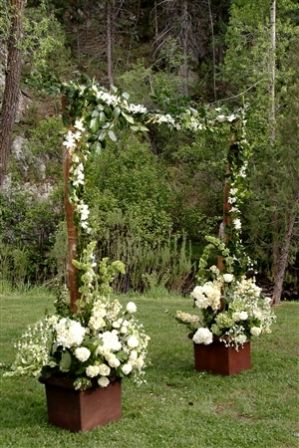 What do we think people white planters fake flowers in the wedding stuff junglespirit Images