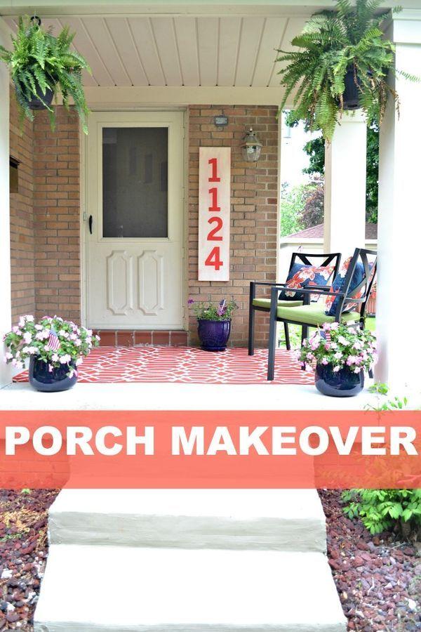 Porch Makeover Details Balancing Home Porch Makeover Front Porch Makeover Porch Columns