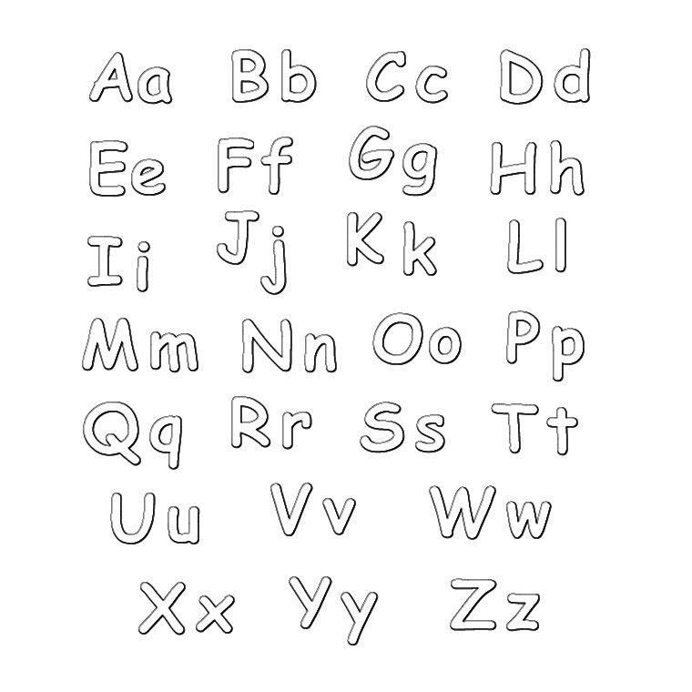 coloriage lettre de lalphabet