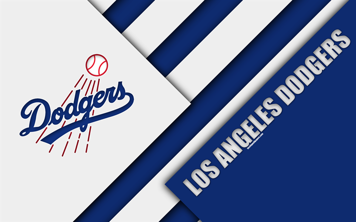 Download wallpapers Los Angeles Dodgers, MLB, 4k, white