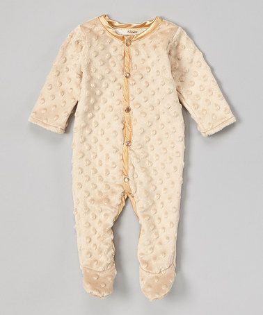 Another great find on #zulily! Latte Velour Footie - Infant by My Blankee #zulilyfinds