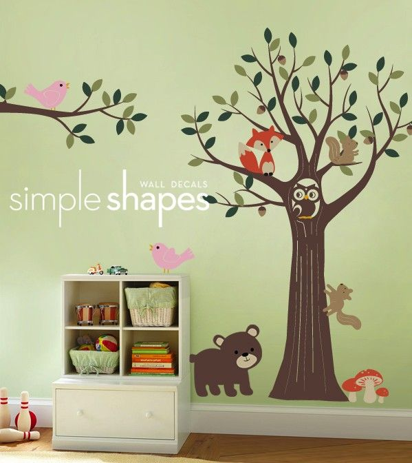 Tree With Forest Friends Decal Set Kid S Nursery Room Wall Sticker By Inlovewithit