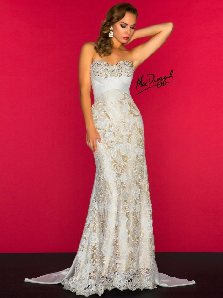 Ivory Evening Gown | Mac Duggal 78439R | Glamour | Pinterest | Macs ...