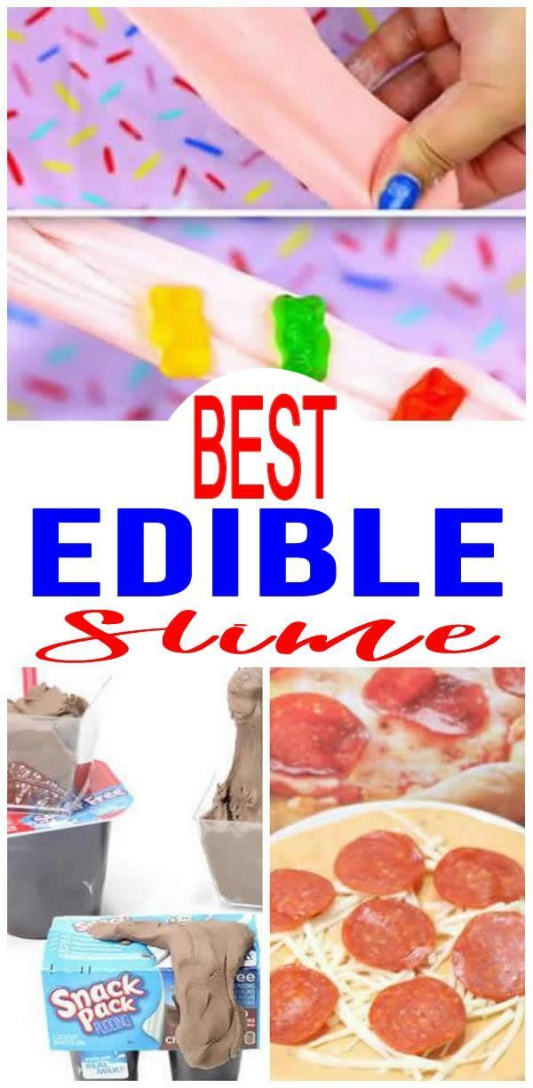 9 DIY Edible Slime Ideas – How To Make Homemade Edible Slime – Easy & Fun Recipes For Kids – Kids Craft Activities – Food Fun Crafts – Party Favors #edibleslime Edible Slime EVERYONE wants to MAKE! BEST Edible slime recipe that kids, teens & tweens will love.The most popular Edible slime ideas for children of all ages to make -homemade Chocolate slime ideas with step by step instructions, slime pictures & Youtube slime video tutorials. Easy & simple DIY Edible  slime that is stretchy & #edibleslime