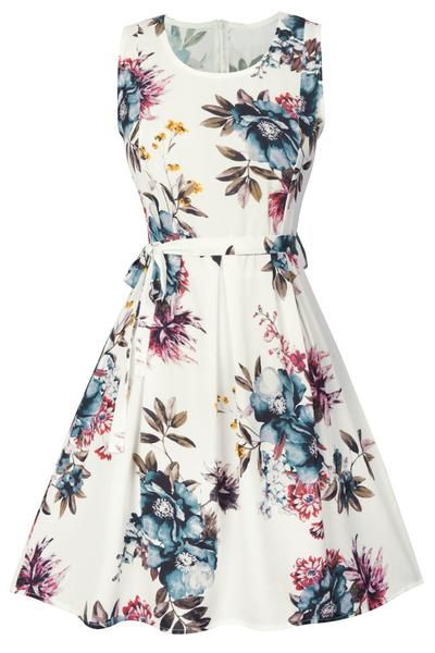 Cupshe Adore Me Sleeveless Floral Dress