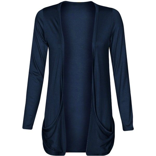 Fashion Wardrobe Womens Drop Pocket Boyfriend Open Cardigan Plus ...