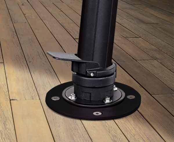 Mounting Kit For Cantilever Umbrellas Cantilever Umbrella Offset Umbrella Deck Umbrella