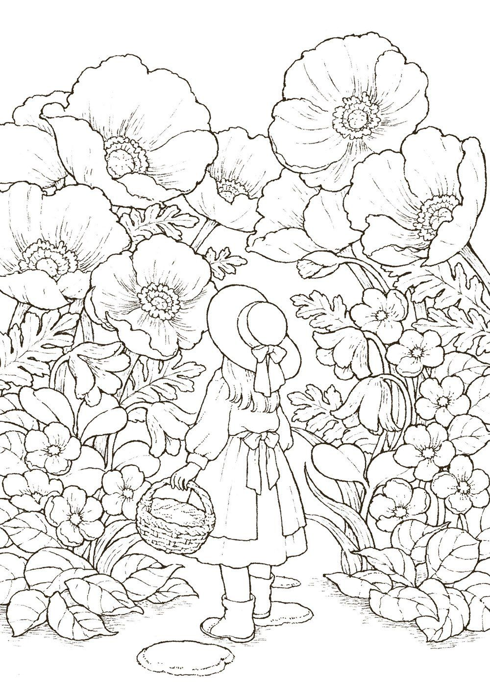 Ausmalbilder Blumen : Pin Von Stacy Mishina Auf Coloring Pages Pinterest Ausmalbilder