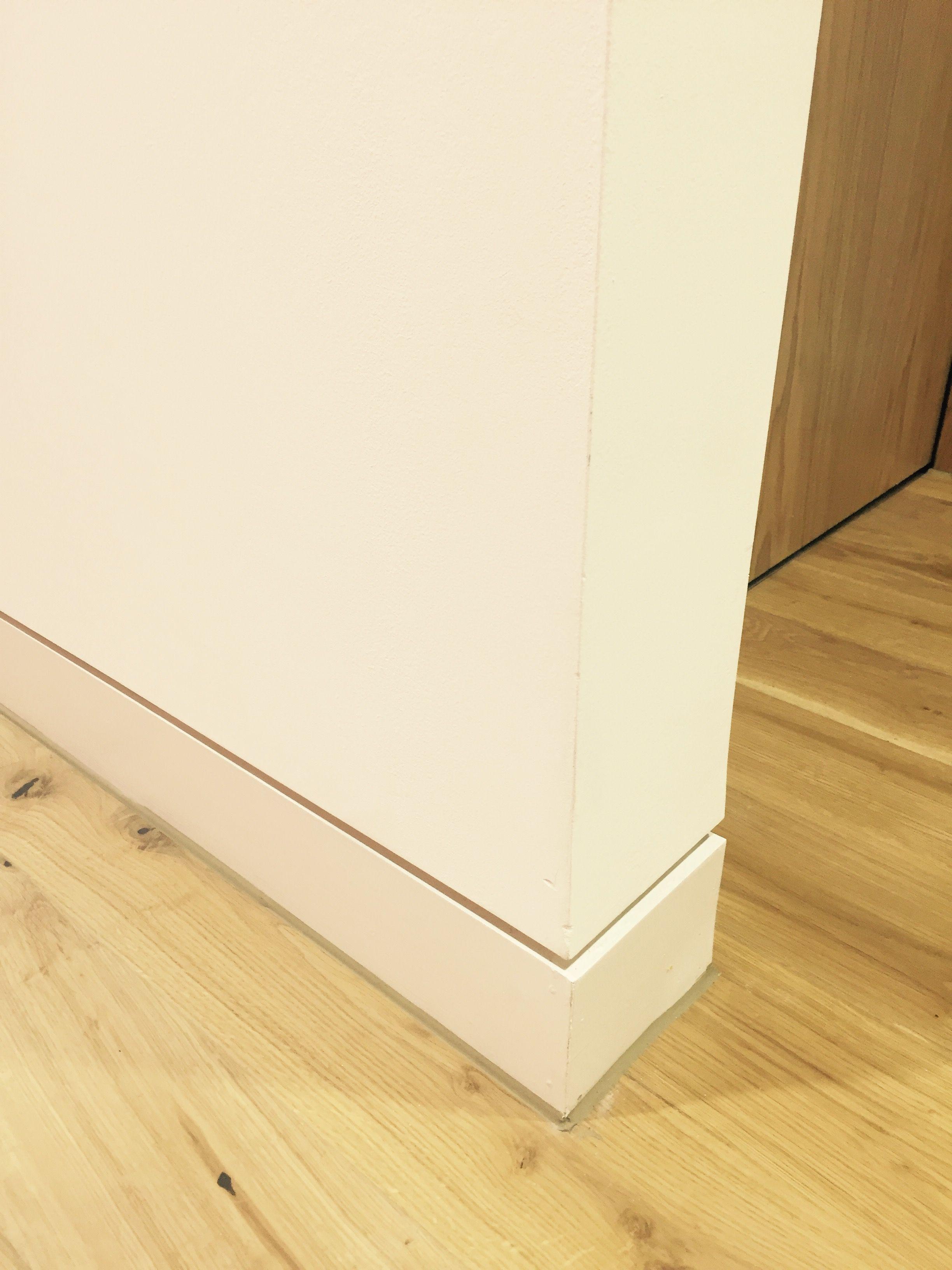 White Shadow Gap Skirting Detail Floor Trim Interior Skirting