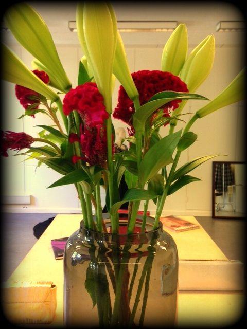 We still have spring in our showroom.  #spring  #flowers #showroom #fashion  #designer #amsterdam