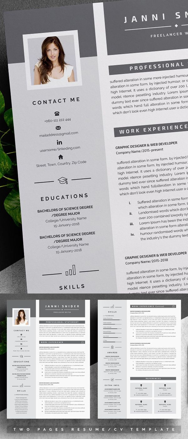 25 Best Resume Templates with Cover Letter Best resume