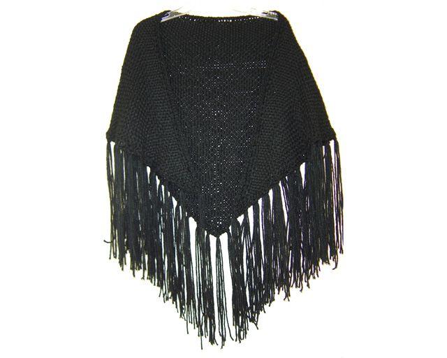 Black Triangle Shawl