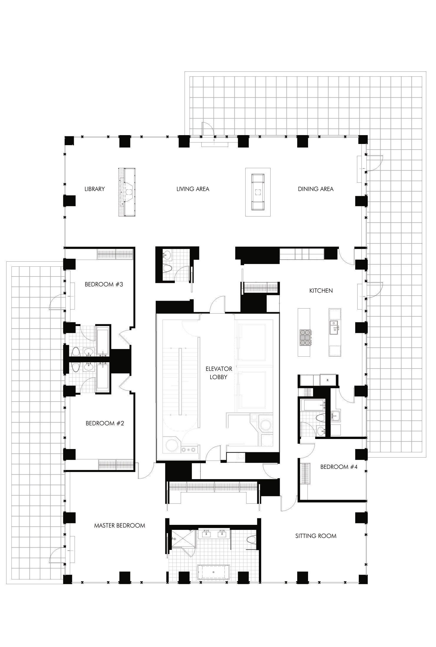 selldorf architects the urban glass house floor plans. Black Bedroom Furniture Sets. Home Design Ideas
