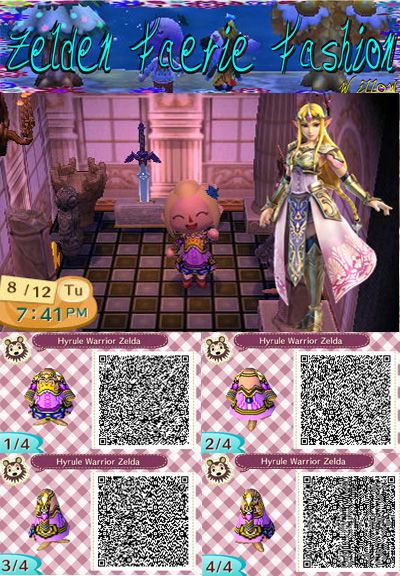 Hyrule Warriors Zelda Animal Crossing New Leaf Qr By