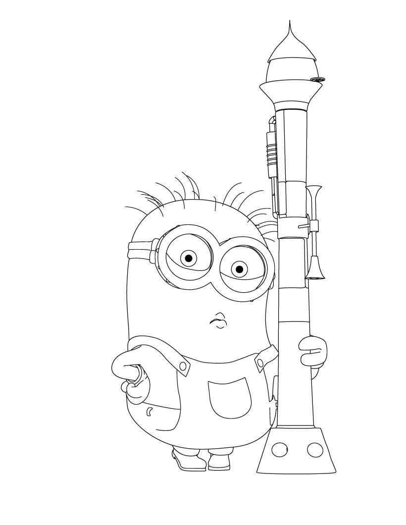 Minions Coloring Pages For Kids Printable Online Coloring 1