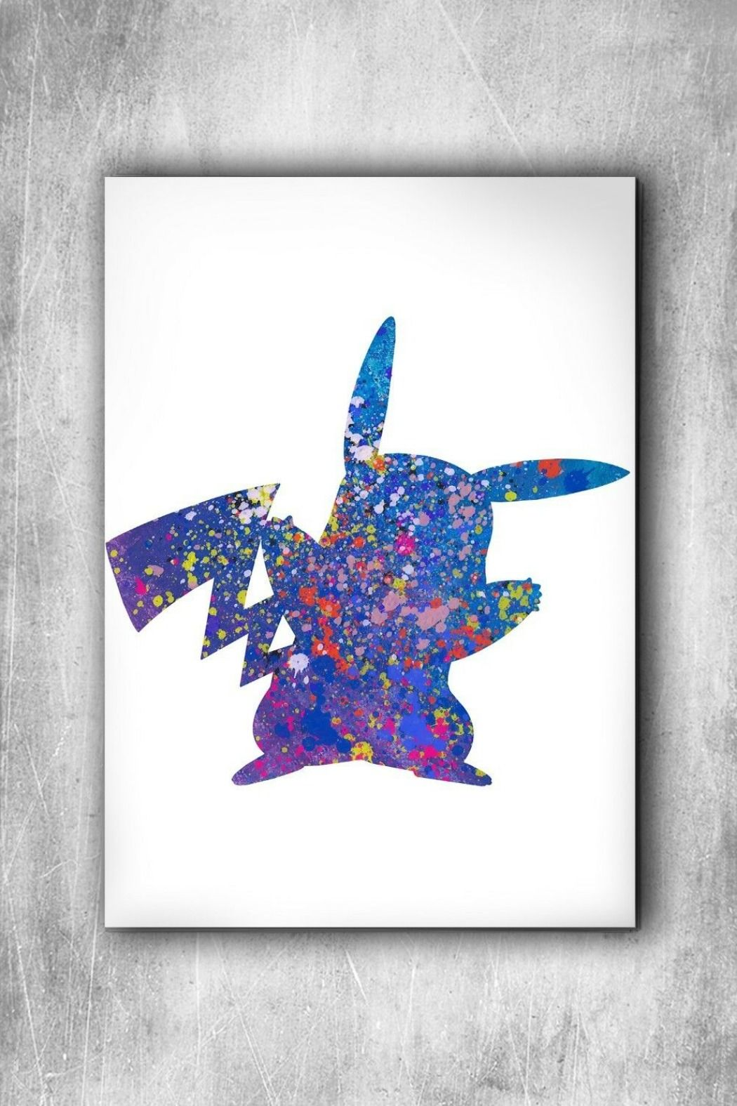 Pokemon Poster Anime Poster Watercolor Eevee Umbreon Go Print Wall Art Gift n32