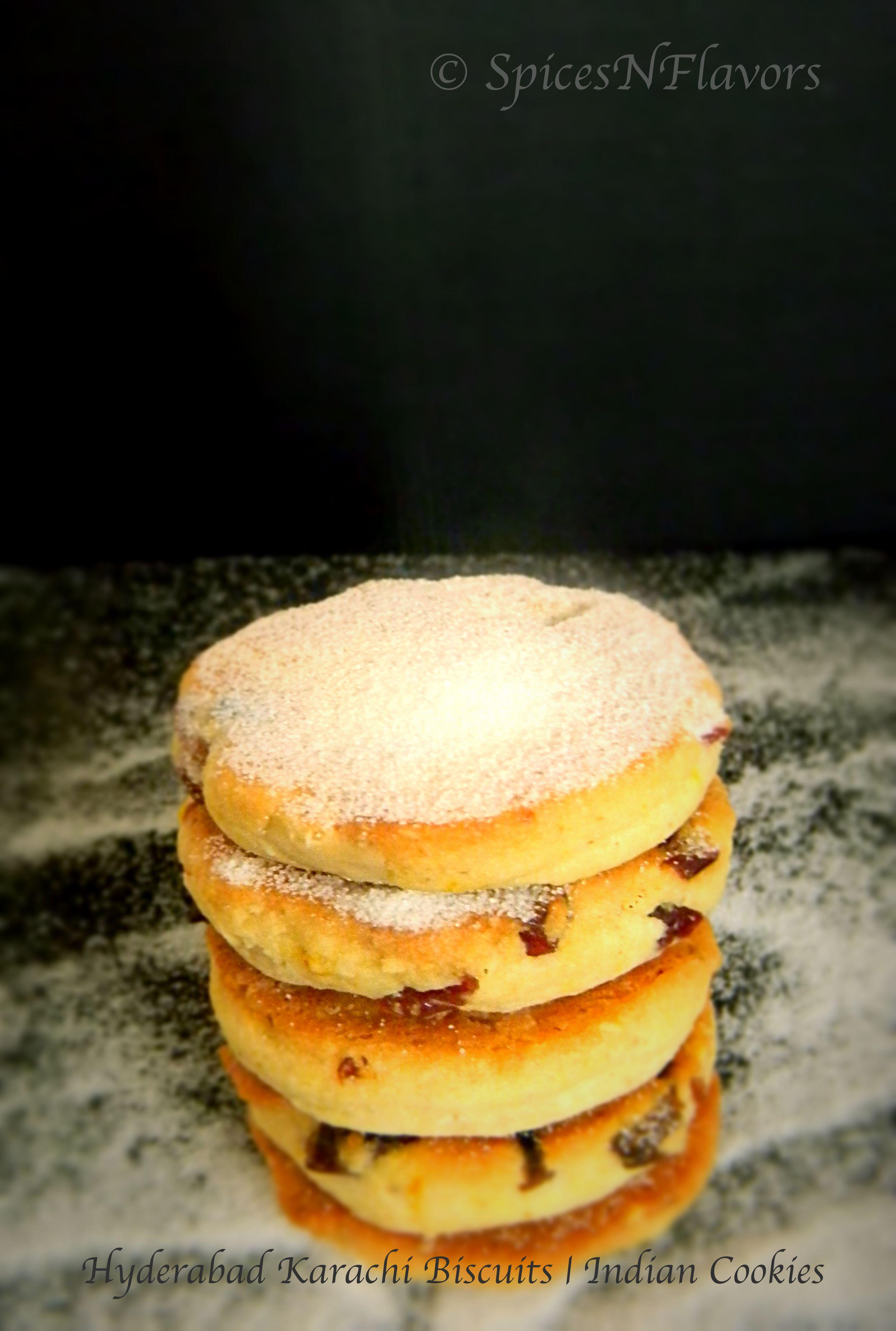 Eggless Hyderabad Karachi Biscuits Indian Cookies