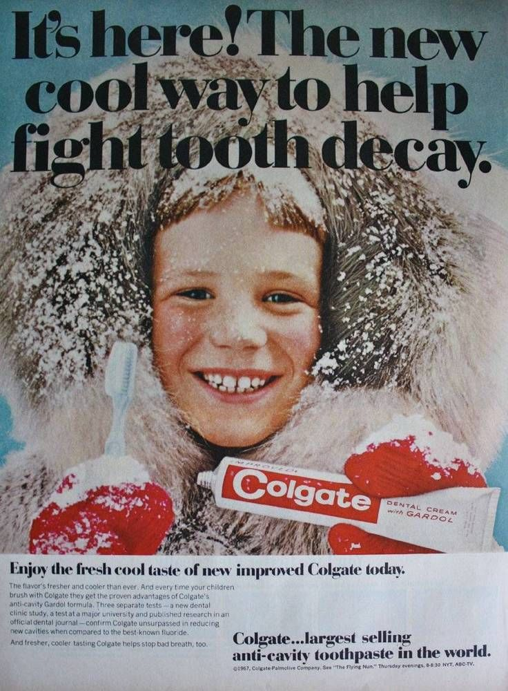 1962 Colgate Tooth Paste boy child smiling photo vintage ...