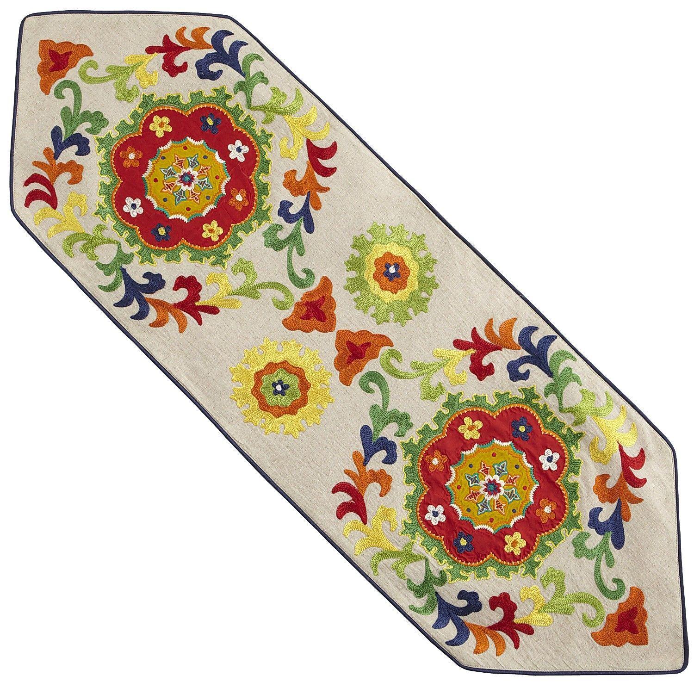 Colorburst Suzani Table Topper