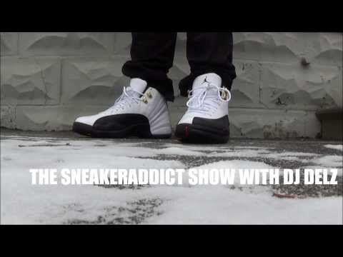 eda16996336d71 Air Jordan Taxi 12 XII Retro Sneaker On Feet Outside Wearing Jeans   Shorts  With Dj Delz  DJ DELZ - YouTube