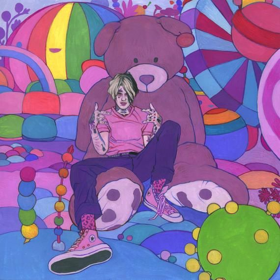 Lil Peep - Original Art or Print - Gouache Painting