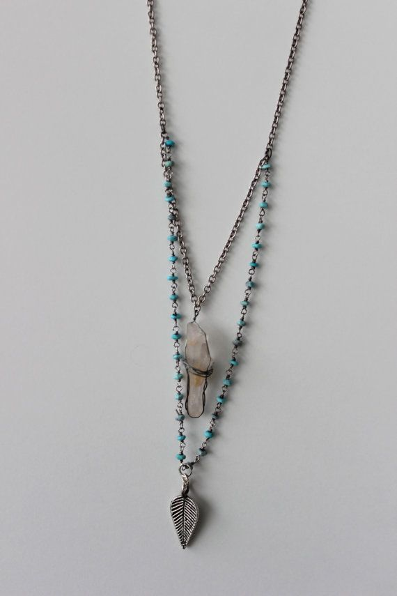 Silver Wire Wrapped Crystal Necklace | Jewelry | Pinterest | Crystal ...