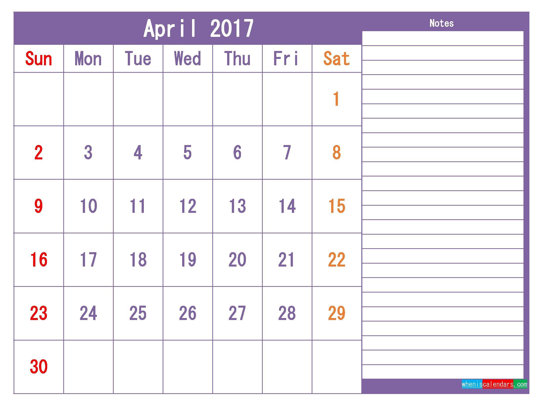 Printable 2017 Calendar Templates April Pdf Png 2019 Calendar Make It Calendar Template 2017 Calendar Templates Daily Calendar Template