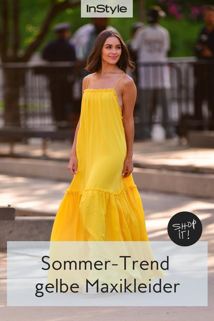 Here comes the sun: Gelbe Maxikleider sind DER Sommertrend 3