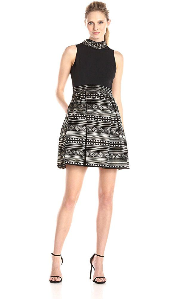 e5a77575744 Vince Camuto Women s Party Dress with Beaded Collar