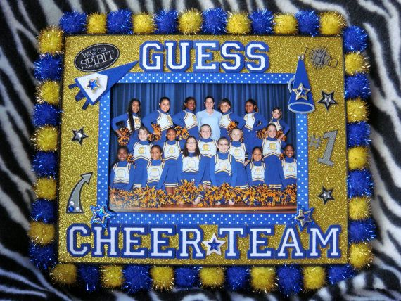 Custom School Spirit 8x10 Cheerleading Frame with 5x7 by dasher19 ...