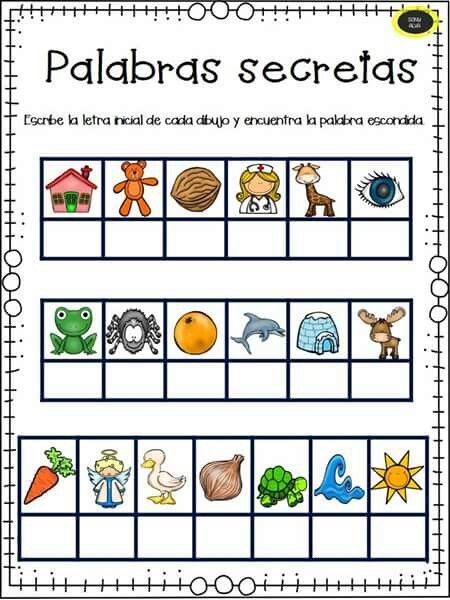 Actividad Perfecta Para Incentivar La Conciencia Lógica De Los Niños Lecto Escritura Preescolar Escritura Preescolar Actividades