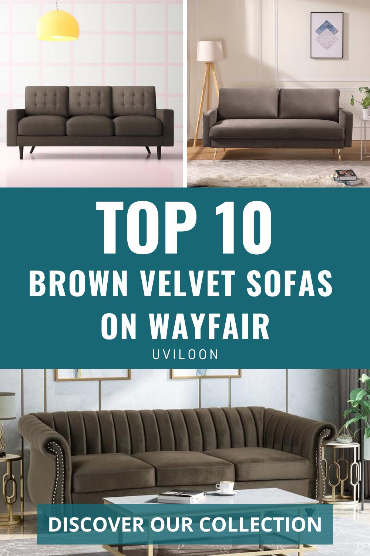 10 Most Popular Brown Velvet Sofas On Wayfair Living Room Furniture Ideas Wayfair Living Room Wayfair Living Room Furniture Velvet Sofa