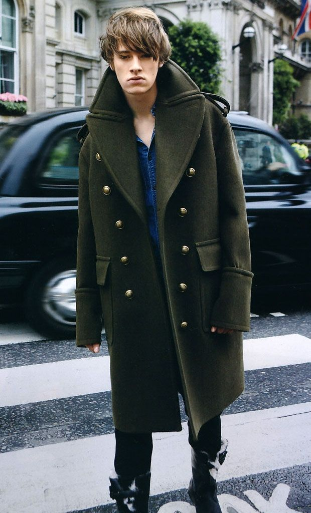 Burberry greatcoat coat streetstyle fashion men Style | Dream ...
