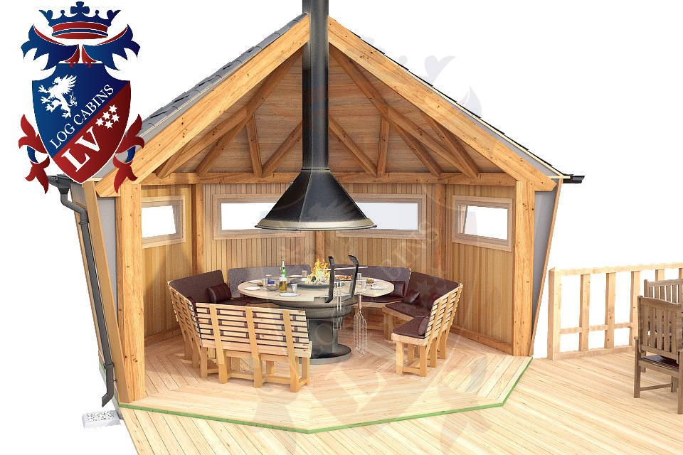 With A Logcabins Lv High Quality Insulated Sectional