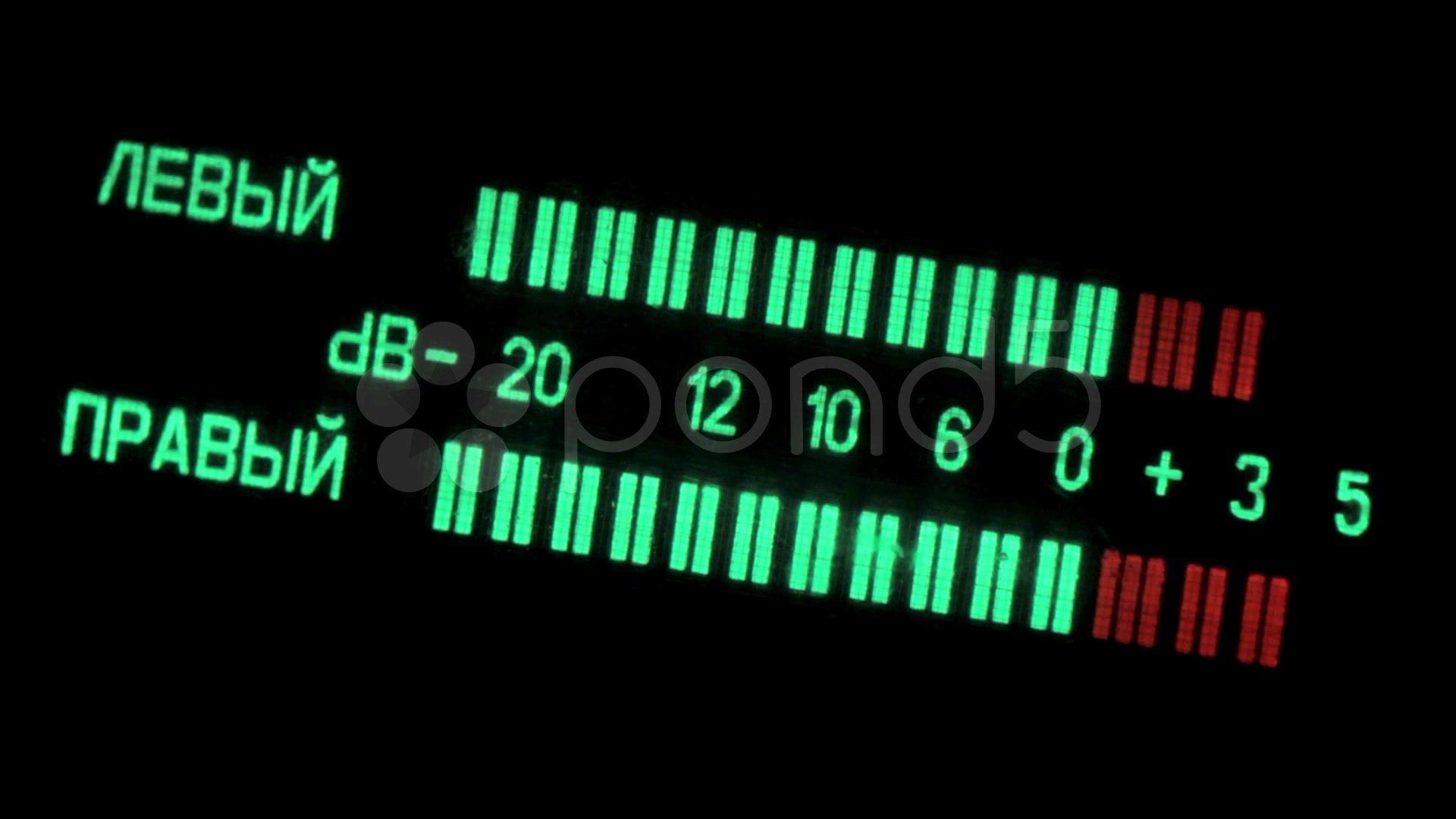 Led Vu Meter Vintage Hi Res Video 39341736 Old Tech In 2018 Audio