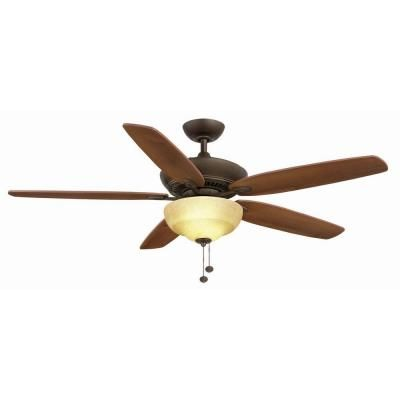 Hampton Bay Langston 60 in Oil-Rubbed Bronze Ceiling Fan Ceiling