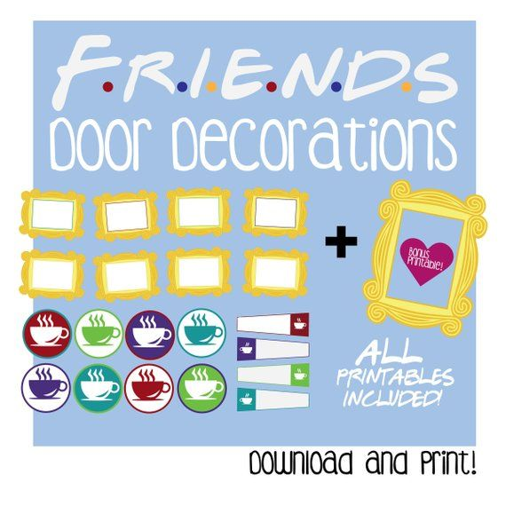 graphic relating to Printable Door Decorations titled Mates Doorway Decoration / Printable / Mates Body / Doorway