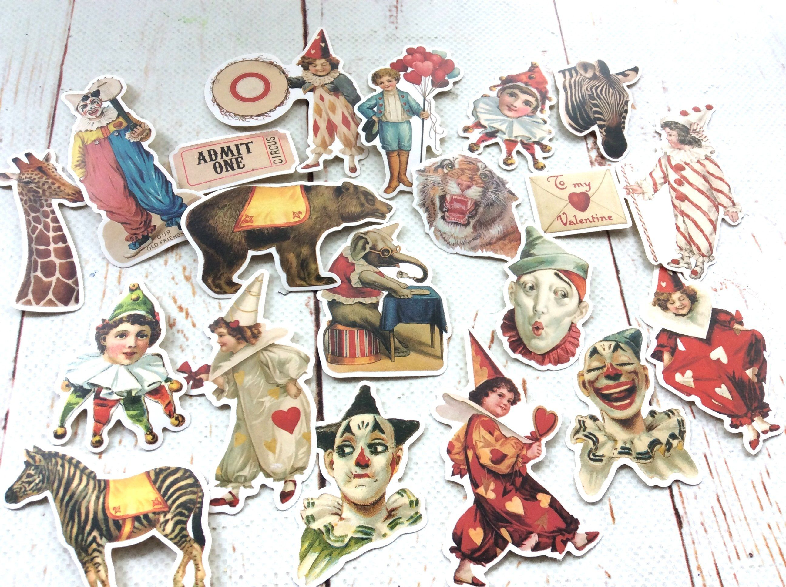 journal Circus stickers for your laptop scrap book or case Stickers